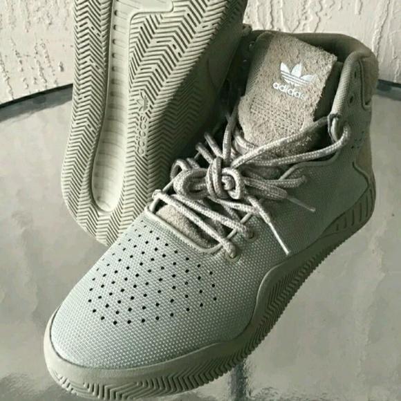 Adidas tubular instinct hi tops shoe desert green NWT